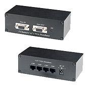 CAT5 šakotuvas iš 1 VGA į 5 VGA VD105